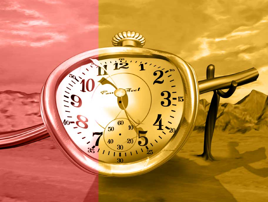 Uhr im Dali Style